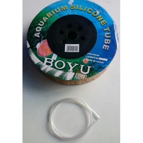 Tubo de silicona BOYU 4mm
