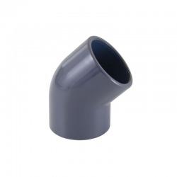 Codo PVC 45º Blanco